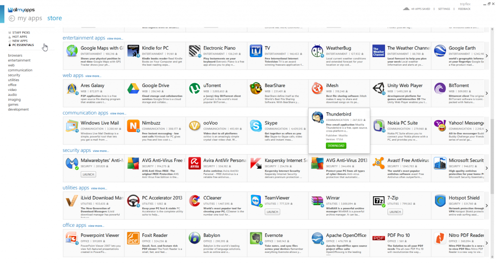 Allmyapps App Store for Windows