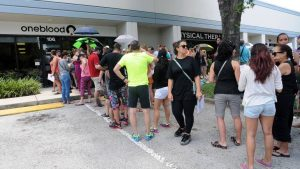 Pulse Orlando One Blood Donation Line